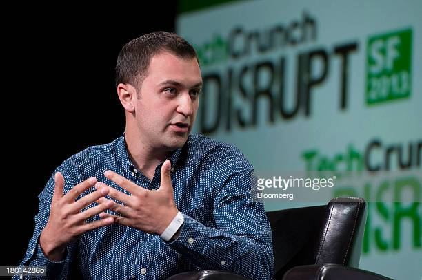 John Zimmer cofounder and chief operating officer of Lyft Inc speaks at the TechCrunch Disrupt SF 2013 conference in San Francisco California US on...