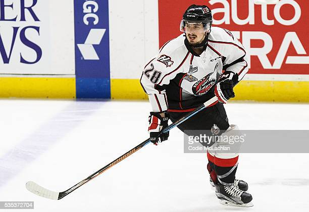 Johnatan Legault of the RouynNoranda Huskies warms up against the London Knights during the Memorial Cup Final on May 29 2016 at the Enmax Centrium...