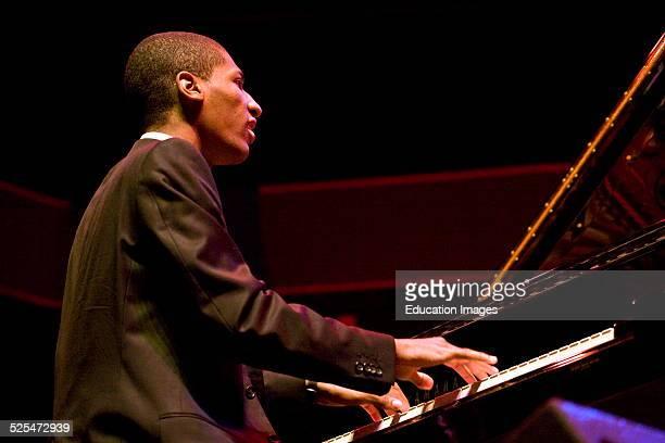 Johnathan Batiste Plays Piano For Cassandra Wilson At The 51St Monterey Jazz Festival Monterey California