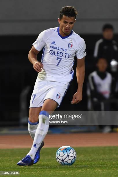 Johnathan Da Silva Viela of Suwon Samsung Bluewings in action during the AFC Champions League Group G match between Kawasaki Frontale and Suwon...