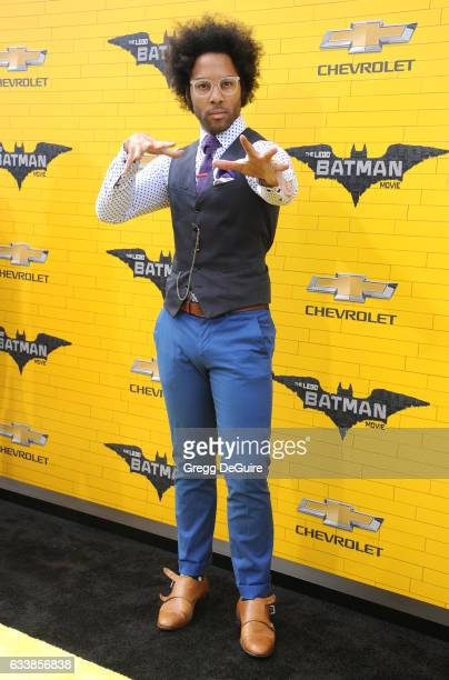 Johnathan Fernandez arrives at the premiere of Warner Bros Pictures' 'The LEGO Batman Movie' at Regency Village Theatre on February 4 2017 in...