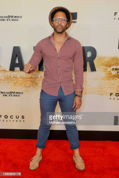 """Johnathan Fernandez attends the """"Stillwater"""" New York Premiere at Rose Theater, Jazz at Lincoln Center on July 26, 2021 in New York City."""