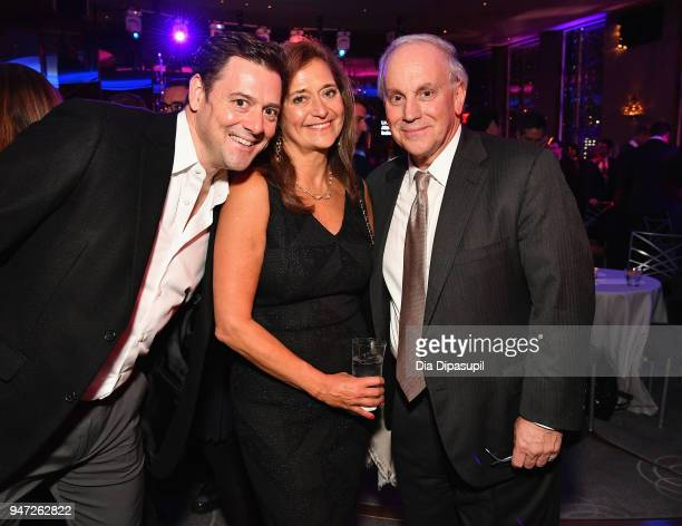 Johnathan Miller Deborah Montaperto and Bob Matza attend the Lincoln Center Alternative Investment Industry Gala on April 16 2018 at The Rainbow Room...