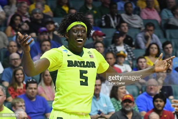 Johnathan Motley of the Baylor Bears reacts against the USC Trojans during the second round of the 2017 NCAA Men's Basketball Tournament at BOK...