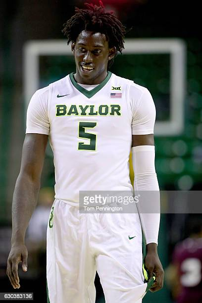Johnathan Motley of the Baylor Bears reacts to a shot against Texas Southern Tigers in the second half at Ferrell Center on December 21 2016 in Waco...