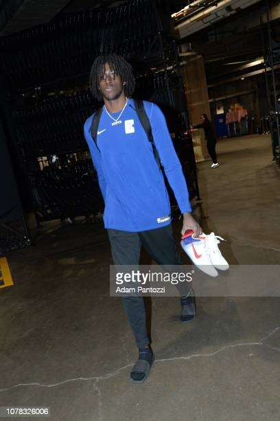 Johnathan Motley of the LA Clippers arrives prior to a game against the Orlando Magic on January 6 2019 at STAPLES Center in Los Angeles California...