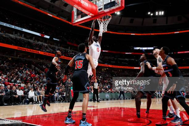 Johnathan Motley of the LA Clippers dunks the ball against the Chicago Bulls on January 25 2019 at United Center in Chicago Illinois NOTE TO USER...