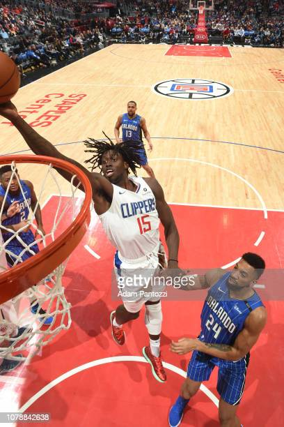 Johnathan Motley of the LA Clippers goes to the basket against the Orlando Magic on January 6 2019 at STAPLES Center in Los Angeles California NOTE...