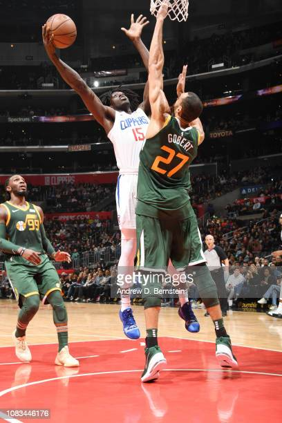 Johnathan Motley of the LA Clippers shoots the ball against the Utah Jazz on January 16 2019 at STAPLES Center in Los Angeles California NOTE TO USER...