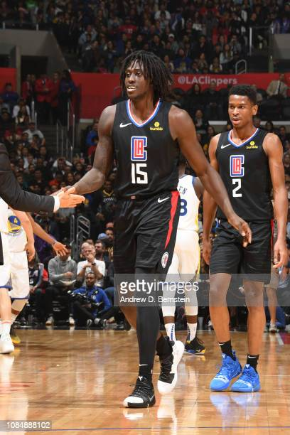 Johnathan Motley of the LA Clippers smiles during a game against the Golden State Warriors on January 18 2019 at STAPLES Center in Los Angeles...