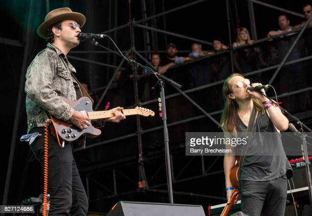 Johnathan Russell and Josiah Johnson of The Head and the Heart performs at performs during the 2017 Lollapalooza Day Three at Grant Park on August 5...