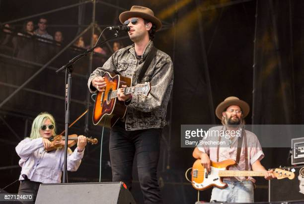Johnathan Russell of The Head and the Heart performs at Grant Park on August 5 2017 in Chicago Illinois