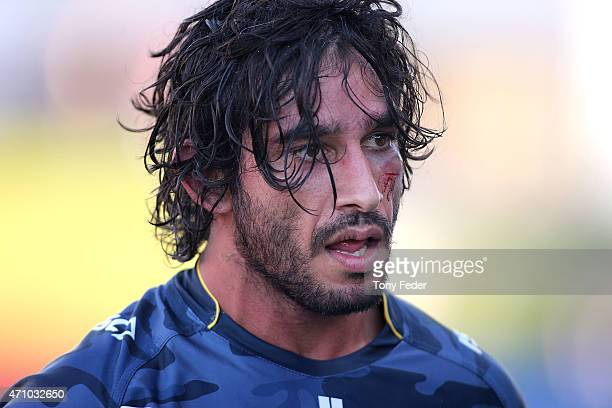 Johnathan Thurston of the Cowboys leaves the ground after the victory over the Knights during the round eight NRL match between the Newcastle Knights...