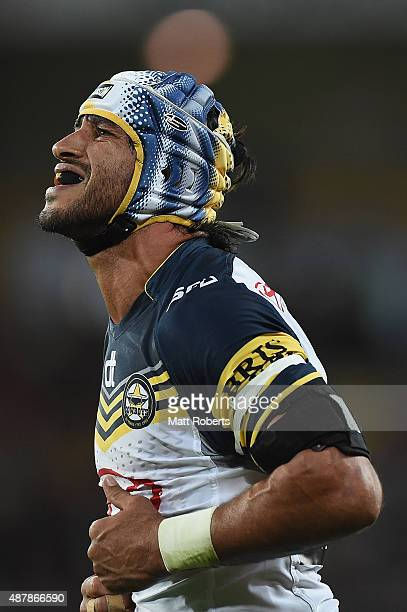 Johnathan Thurston of the Cowboys looks dejected during the NRL Qualifying Final match between the Brisbane Broncos and the North Queensland Cowboys...