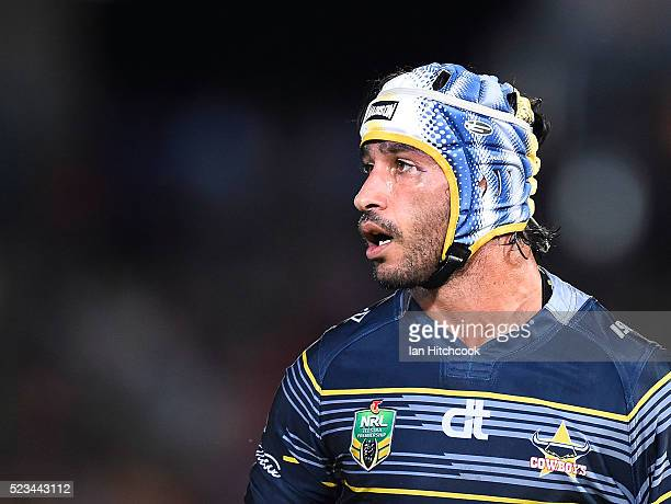Johnathan Thurston of the Cowboys looks on during the round eight NRL match between the North Queensland Cowboys and the Parramatta Eels at...