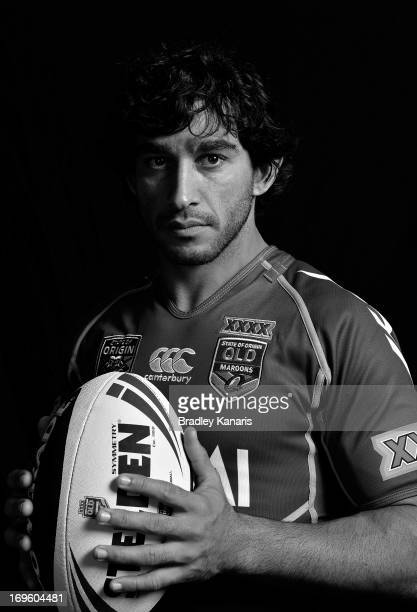 Johnathan Thurston poses for a photo during a Queensland Maroons Origin media session at Palmer Resort Coolum on May 29 2013 in Brisbane Australia