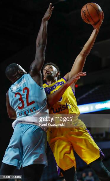 Johnathan Williams of the South Bay Lakers shoots the ball against the Windy City Bulls during the NBA GLeague on December 3 2018 at Sears Centre...