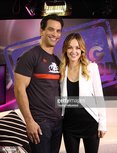 Johnathon Schaech and Ambyr Childers visits the Young Hollywood Studio on January 12 2015 in Los Angeles California