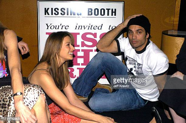 Johnathon Schaech and Brooke Langton during Kiss the Bride Launch Party at Monroe's in Hollywood California United States