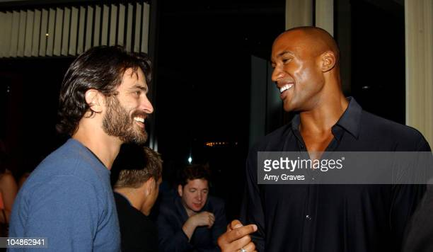 Johnathon Schaech and Henry Simmons during Junior League of Los Angeles 2nd Annual Viva Los Angeles Casino Night at Sony Pictures Plaza in Culver...
