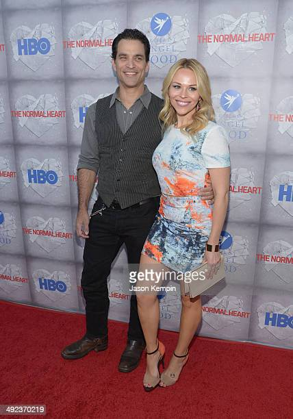 Johnathon Schaech and Julie Solomon attend HBO's 'The Normal Heart' Premiere at The Writers Guild Theatre on May 19 2014 in Beverly Hills California