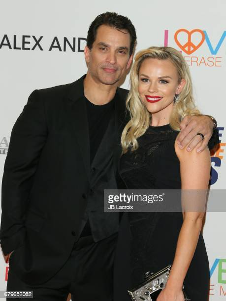 Johnathon Schaech and Julie Solomon attend the 24th Annual Race To Erase MS Gala on May 05, 2017 in Beverly Hills, California.