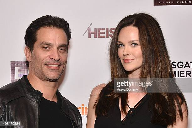 Johnathon Schaech and Lydia Hull attend the Screening of Lionsgate's 'Heist' at Sundance Cinemas on November 9 2015 in West Hollywood California