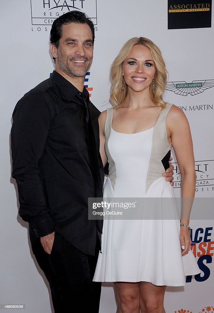 Johnathon Schaech and wife Julie Solomon arrive at the 21st Annual Race To Erase MS Gala at the Hyatt Regency Century Plaza on May 2, 2014 in Century City, California.