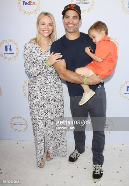 Johnathon Schaech with Julie Solomon and Camden Quinn Schaech arrive at the Safe Kids Day held at Smashbox Studios on April 23, 2017 in Culver City,...