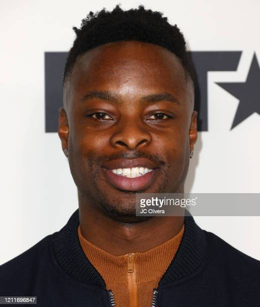 """Johnell Young attends the premiere of BET's """"Boomerang"""" Season 2 at Paramount Studios on March 10, 2020 in Los Angeles, California."""