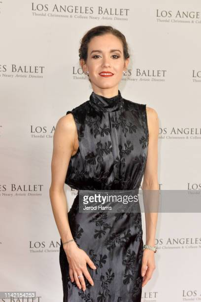 Johnese Spisso arrives at the Los Angeles Ballet's 2019 Gala at The Beverly Hilton Hotel on April 11 2019 in Beverly Hills California