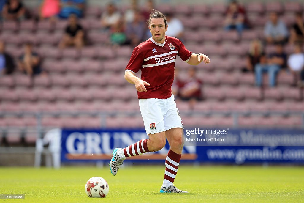 John-Joe O'Toole of Northampton Town during the Pre-Season Friendly match between Northampton Town and Derby County at Sixfields Stadium on July 18, 2015 in Northampton, England.