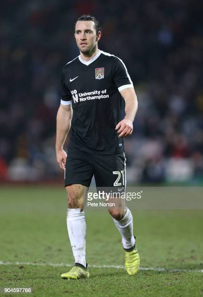 JohnJoe O'Toole of Northampton Town in action during the Sky Bet League One match between Bradford City and Northampton Town at Northern Commercials...