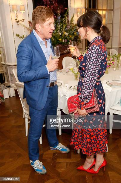Johnnie Boden and Isabel Spearman attend the Boden Icons SS18 dinner at The Connaught Hotel on April 19 2018 in London England