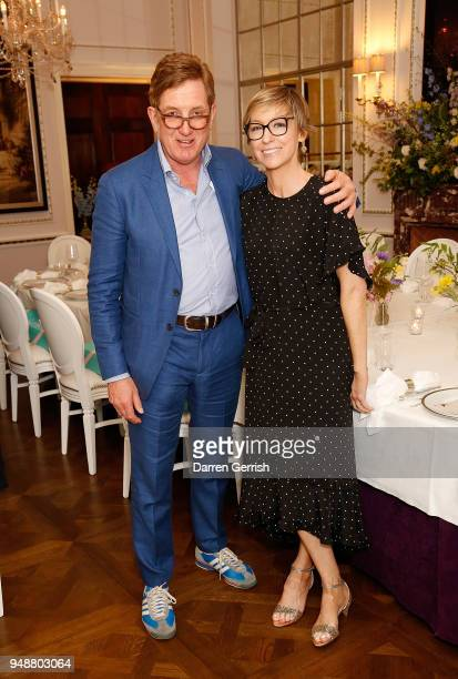 Johnnie Boden and Jo Elvin attend the Boden Icons SS18 dinner at The Connaught Hotel on April 19 2018 in London England