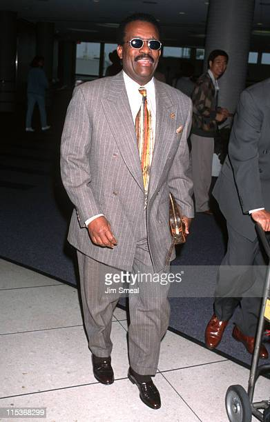 Johnnie Cochran during Johnnie Cochran Arriving From New York at LAX April 18 1997 at Los Angeles International Airport in Los Angeles California...