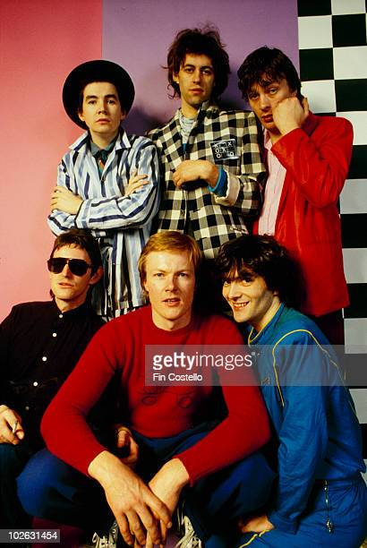 Johnnie Fingers Bob Geldof and Garry Roberts Gerry Cott Simon Crowe and Pete Briquette of the Boomtown Rats in October 1979