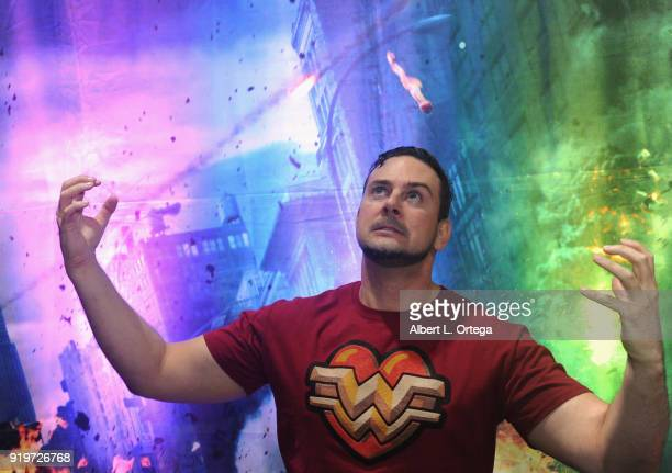 Johnnie Griffing attends day one of the 8th Annual Long Beach Comic Expo held at Long Beach Convention Center on February 17 2018 in Long Beach...