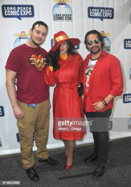 Johnnie Griffing Valerie Perez and Daniel Jassim attend day 1 of the 8th Annual Long Beach Comic Expo held at Long Beach Convention Center on...