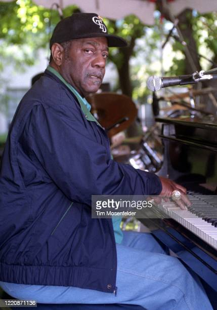 Johnnie Johnson performs during the Fountain Blues Festival at San Jose State University on May 13, 1995 in San Jose, California.