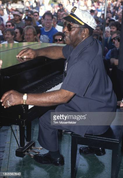 Johnnie Johnson performs during the Fountain Blues Festival at San Jose State University on May 18, 1996 in San Jose, California.