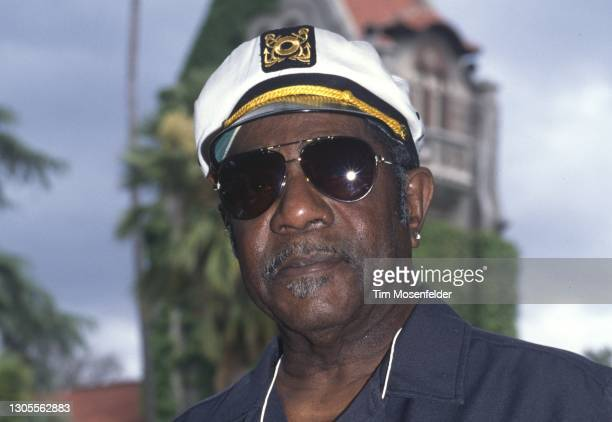 Johnnie Johnson poses during the Fountain Blues Festival at San Jose State University on May 18, 1996 in San Jose, California.