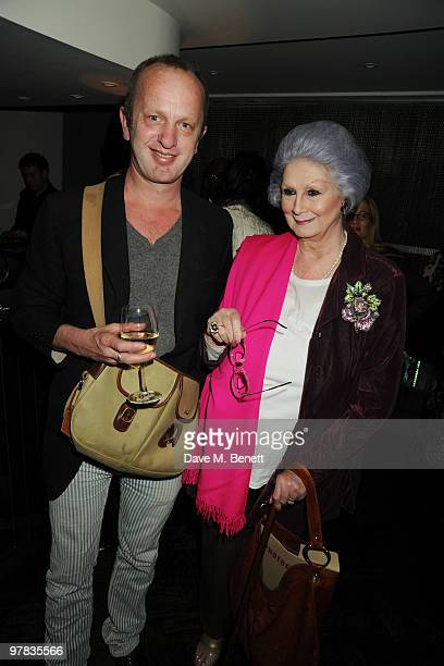 Johnnie Shand Kydd and April Ashley attend the 'I Am Love' screening at The Electric Cinema on March 18 2010 in London England