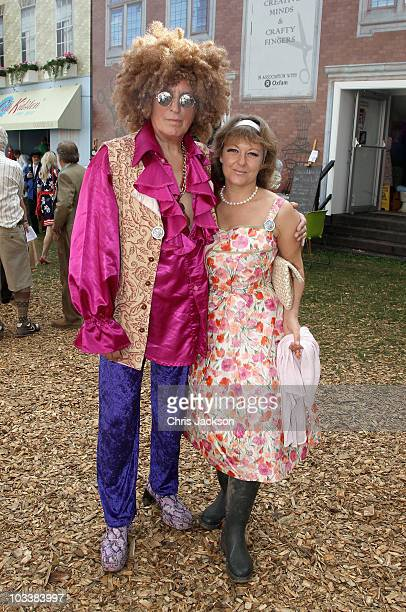 Johnnie Walker with his wife Tiggy attend Day 2 of the Vintage at Goodwood Festival on August 14, 2010 in Chichester, England.