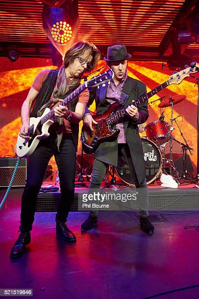 Johnny A and Kenny Aaronson of The Yardbirds performing at Under The Bridge on April 15 2016 in London England