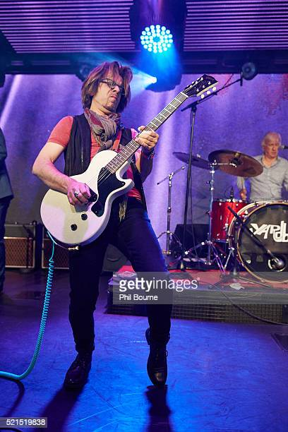 Johnny A of The Yardbirds performing at Under The Bridge on April 15 2016 in London England