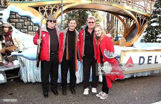Johnny Adams Jonathan Swoboda Chip Davis and Karly Jurgensen of band Mannheim Steamroller Rock Macy's Thanksgiving Day Parade For Unpresidented 3rd...
