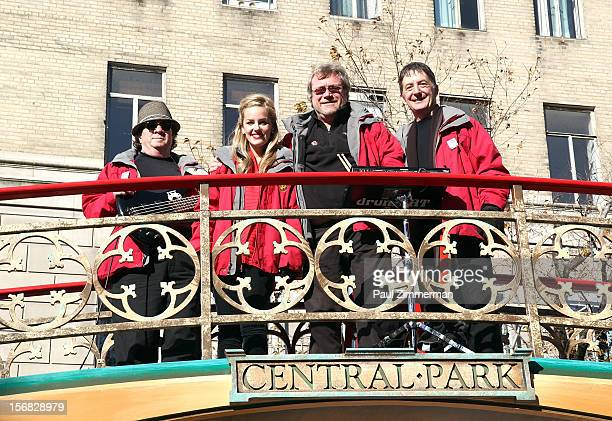 Johnny Adams Karly Jurgensen Chip Davis and Jonathan Swoboda of band Mannheim Steamroller Rock Macy's Thanksgiving Day Parade For Unpresidented 3rd...