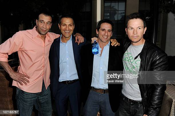 Johnny Alves Ari Emanuel CEO William Morris Endeavor Entertainment executive producers Steve Levinson and Mark Wahlberg pose at the premiere of HBO's...