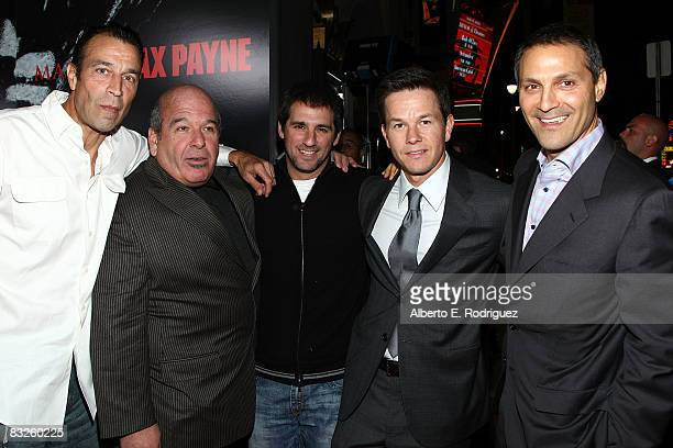 Johnny Alves Eric Weinsyein exec producer Stephen Levinson actor Mark Wahlberg and agent Ari Emanuelle arrive at the premiere of 20th Century Fox's...
